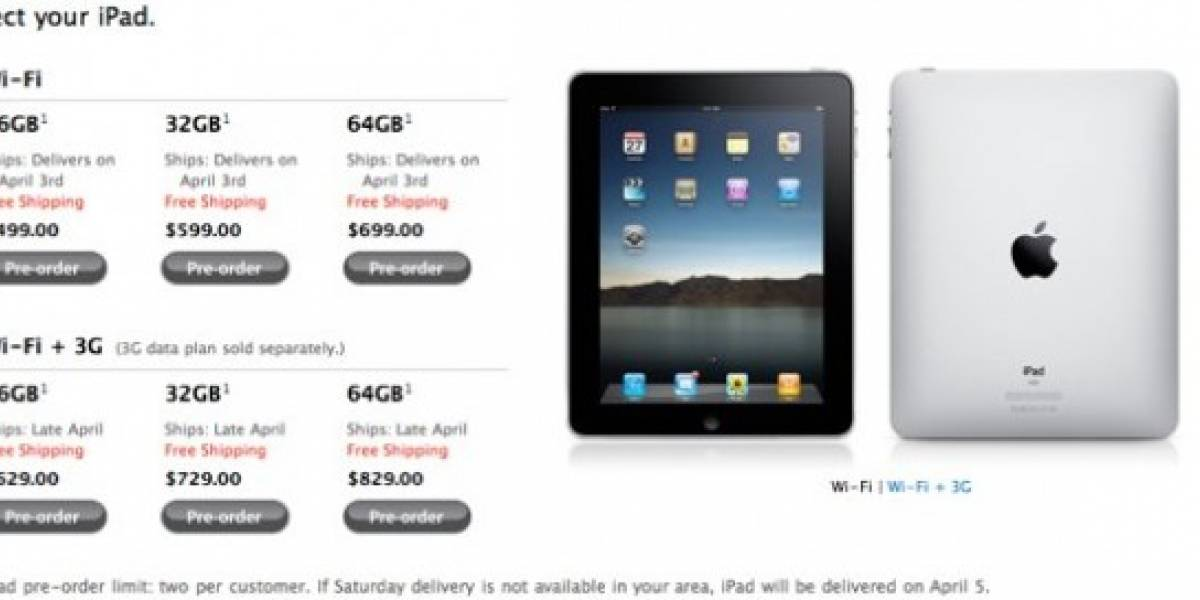 Preorden del iPad es un hecho, la hora de la verdad