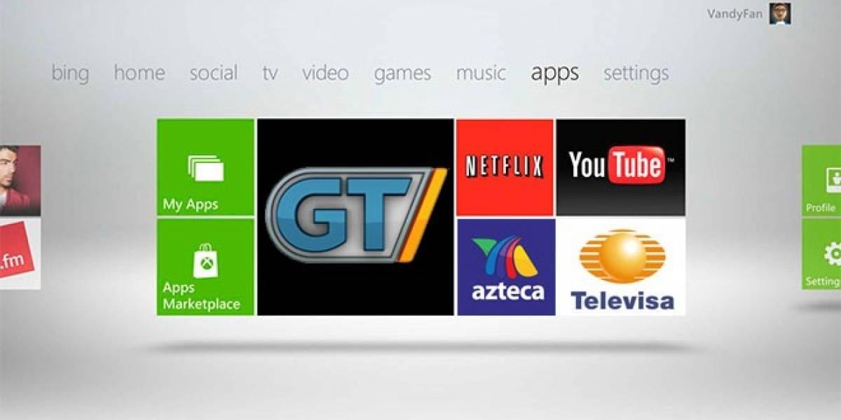 Microsoft implementará más de 40 aplicaciones en Xbox 360