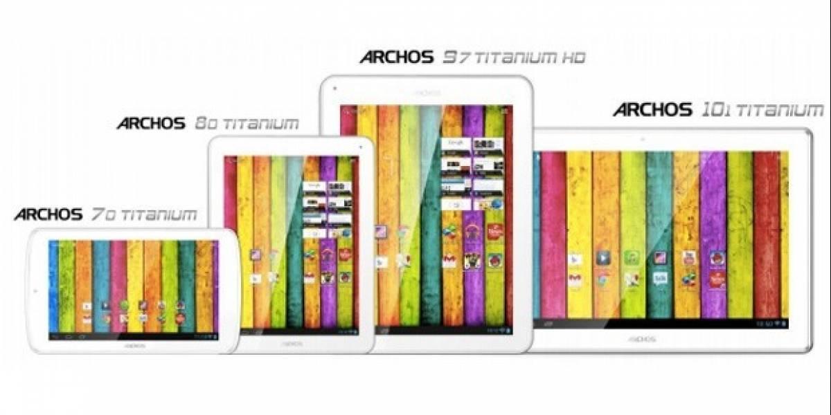 CES 2013: Archos lanza su linea de tablets Titanium
