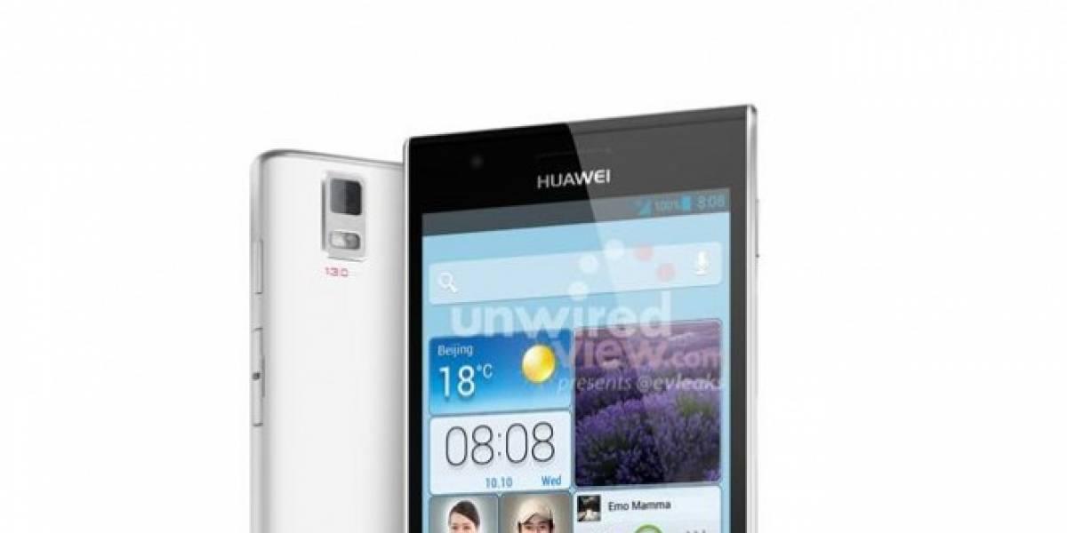 Un render del Huawei Ascend P2 muestra su delgadez