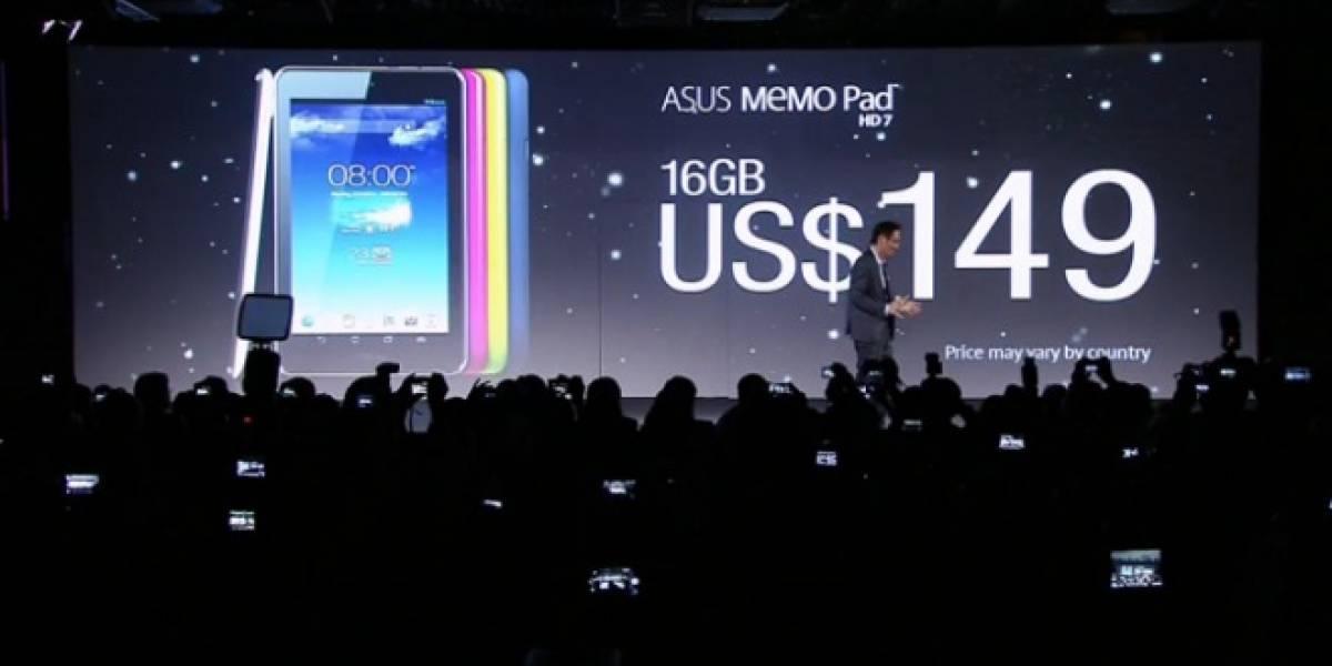 Asus juega a la segura y presenta el Memo Pad HD 7