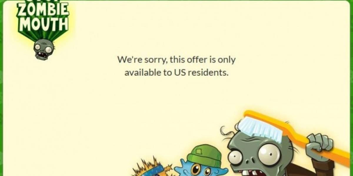 Plantas versus Zombies gratis sólo si vives en EE.UU.