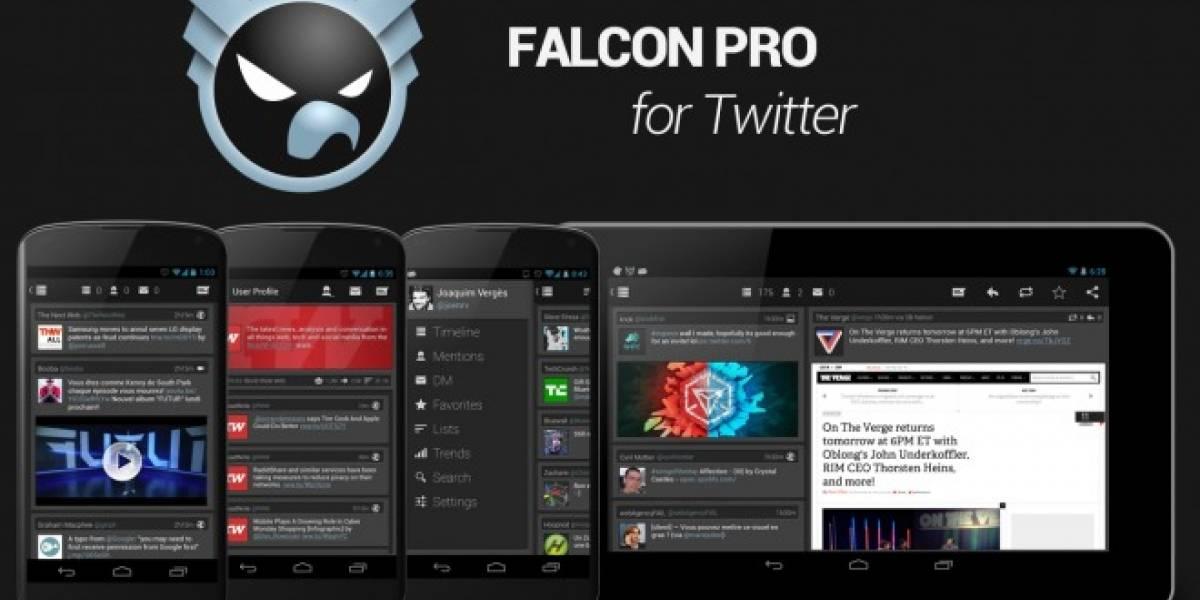 Falcon Pro se actualiza a la versión 2.1 integrando notificaciones Push