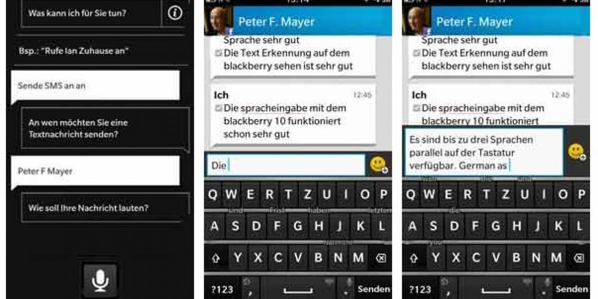 BlackBerry 10 también tendrá controles por voz