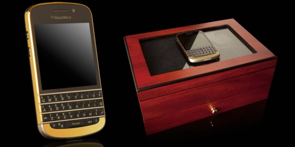 Lanzan BlackBerry Q10 con bordes de oro