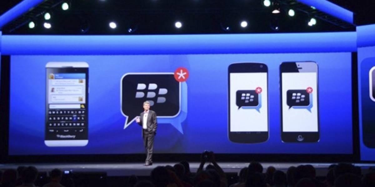 BlackBerry Messenger para iOS y Android saldría este 27 de junio