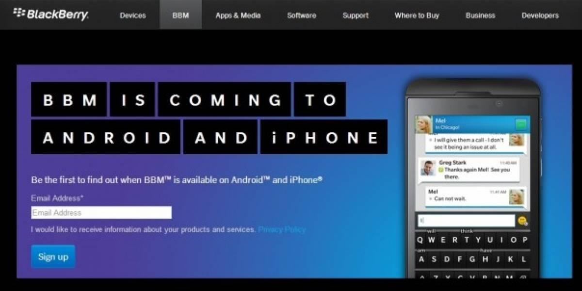 BlackBerry ya comienza a promocionar BBM para iOS y Android