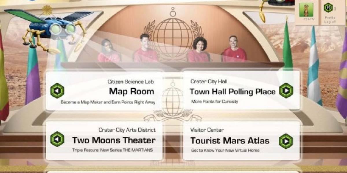 Sitio web invita al estudio de Marte