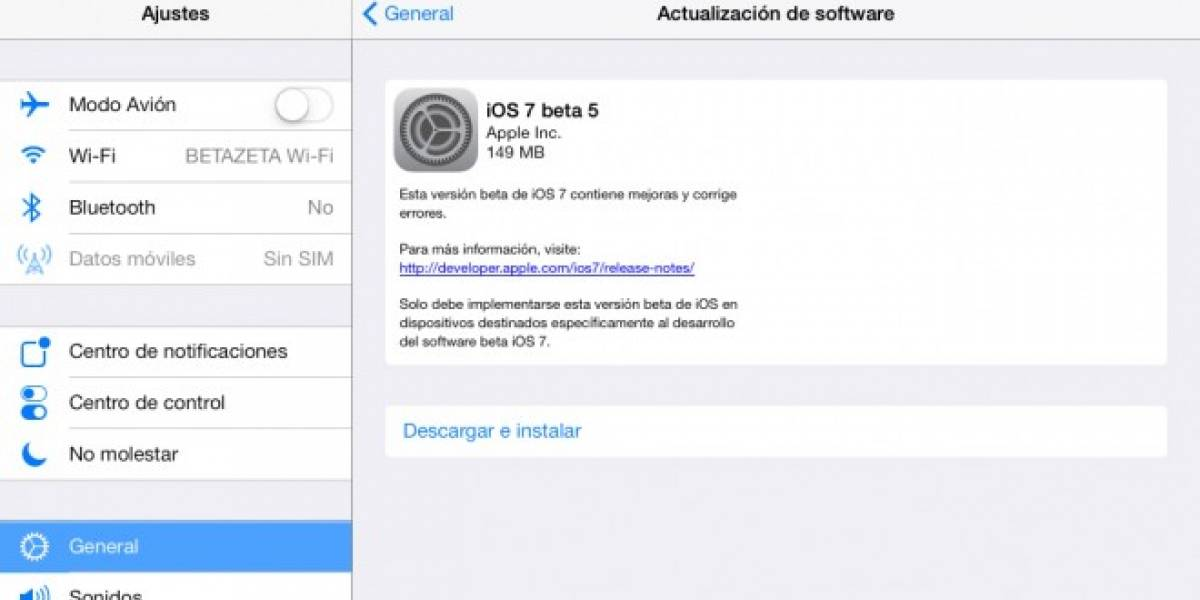 iOS 7 Beta 5 ya se encuentra disponible con importantes cambios y mejoras
