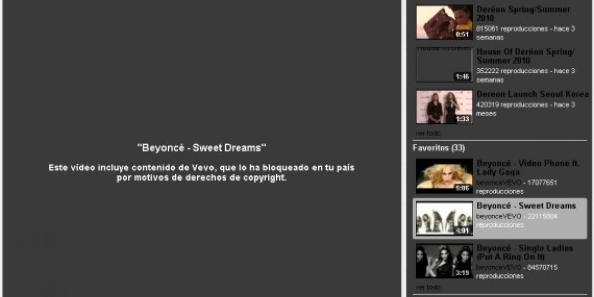 Sony bloquea el canal de Beyoncé en YouTube por violar la propiedad intelectual