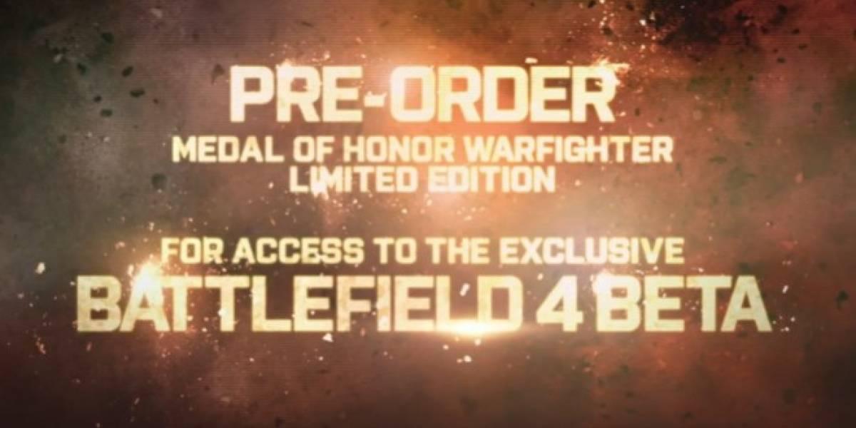 EA confirma la beta de Battlefield 4 para los compradores de MoH: Warfighter