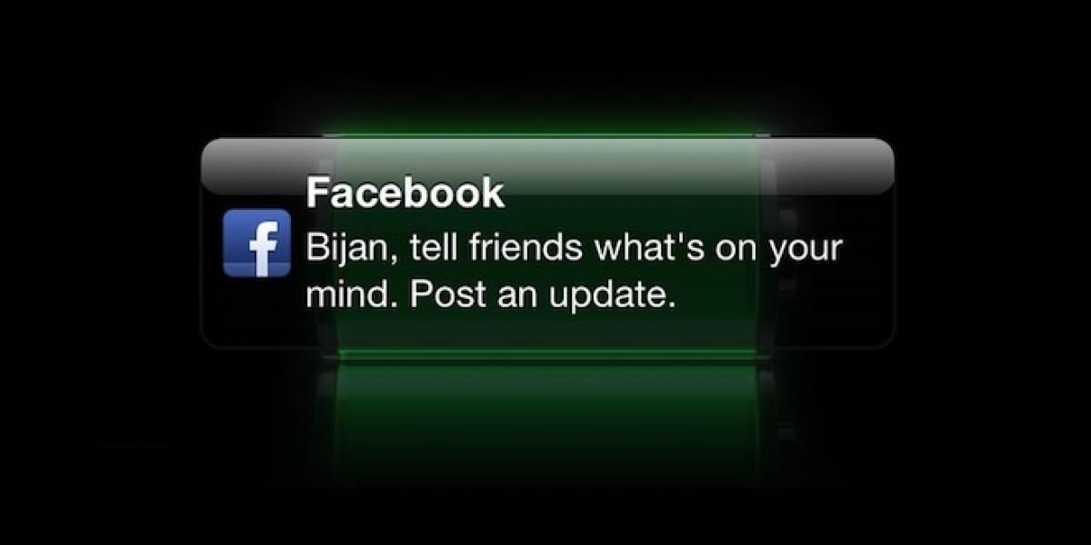 Facebook para iOS podría comenzar a recordarte que actualices tu estado