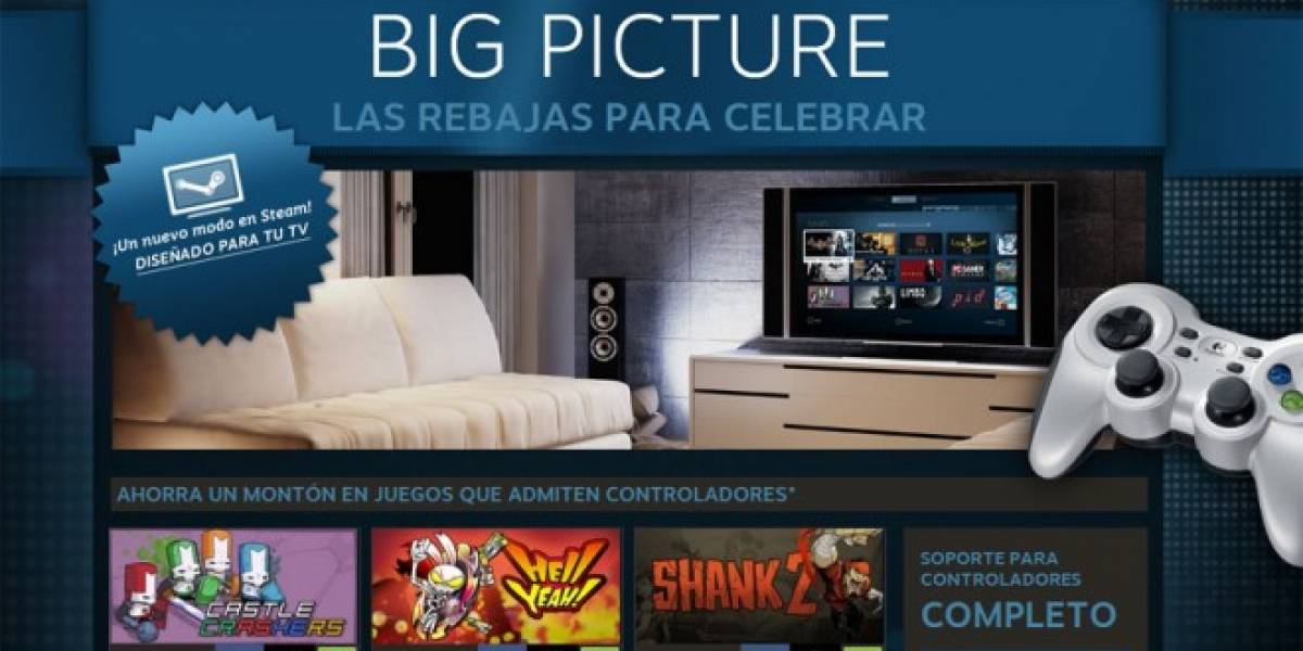 Steam Big Picture ya está disponible para todo el público