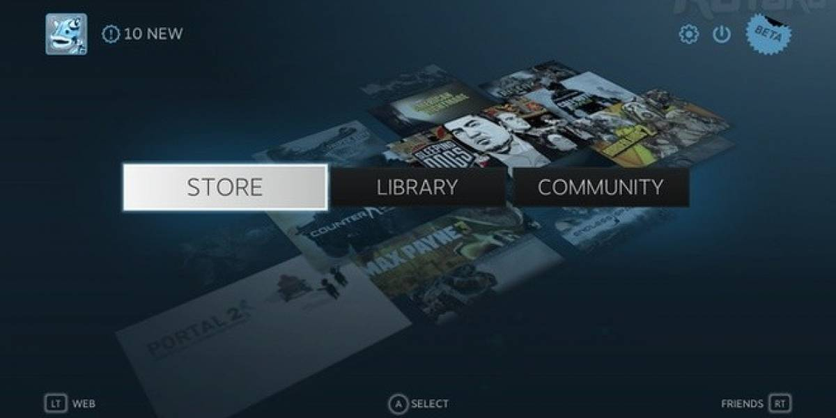 Hoy se inicia la beta de Steam Big Picture