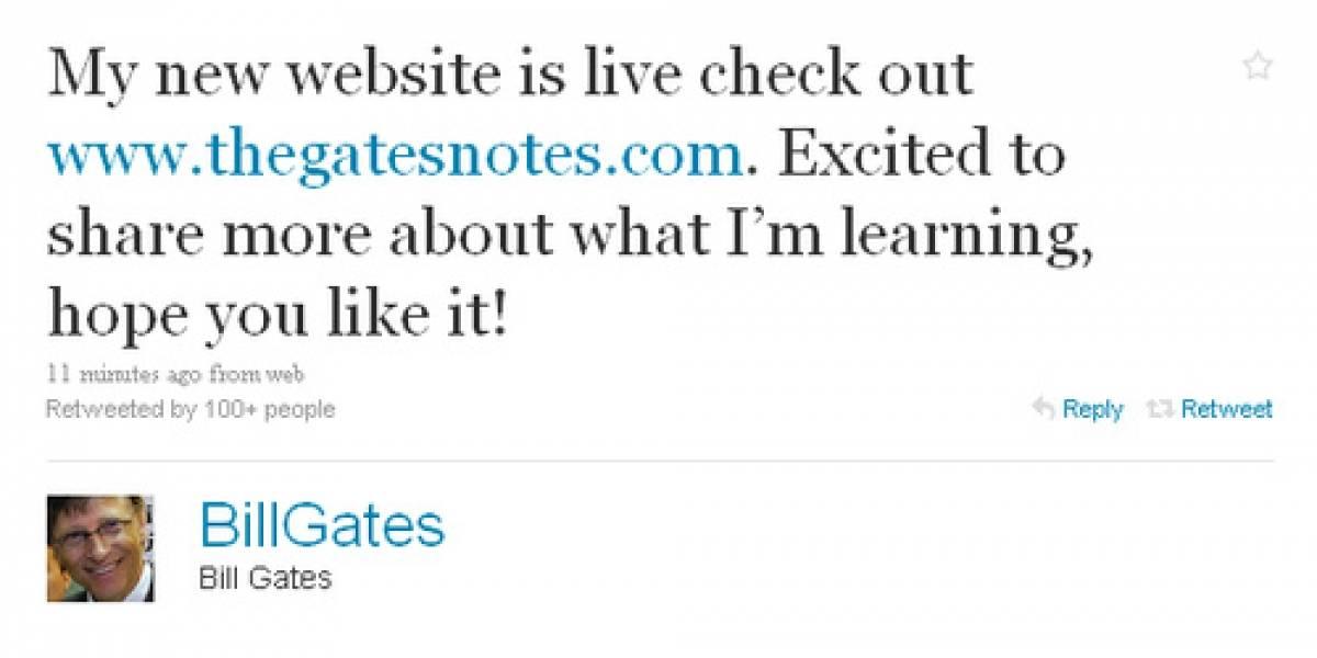 Bill Gates estrena sitio web junto con su cuenta de Twitter