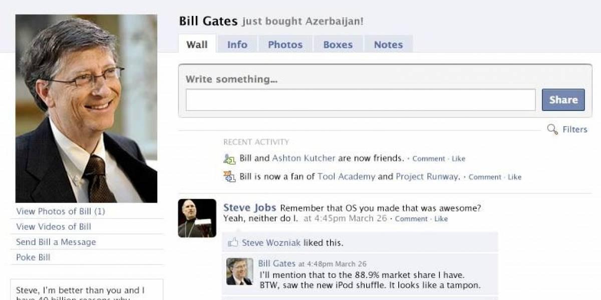 Bill Gates dejó Facebook porque mucha gente quería ser su amiga