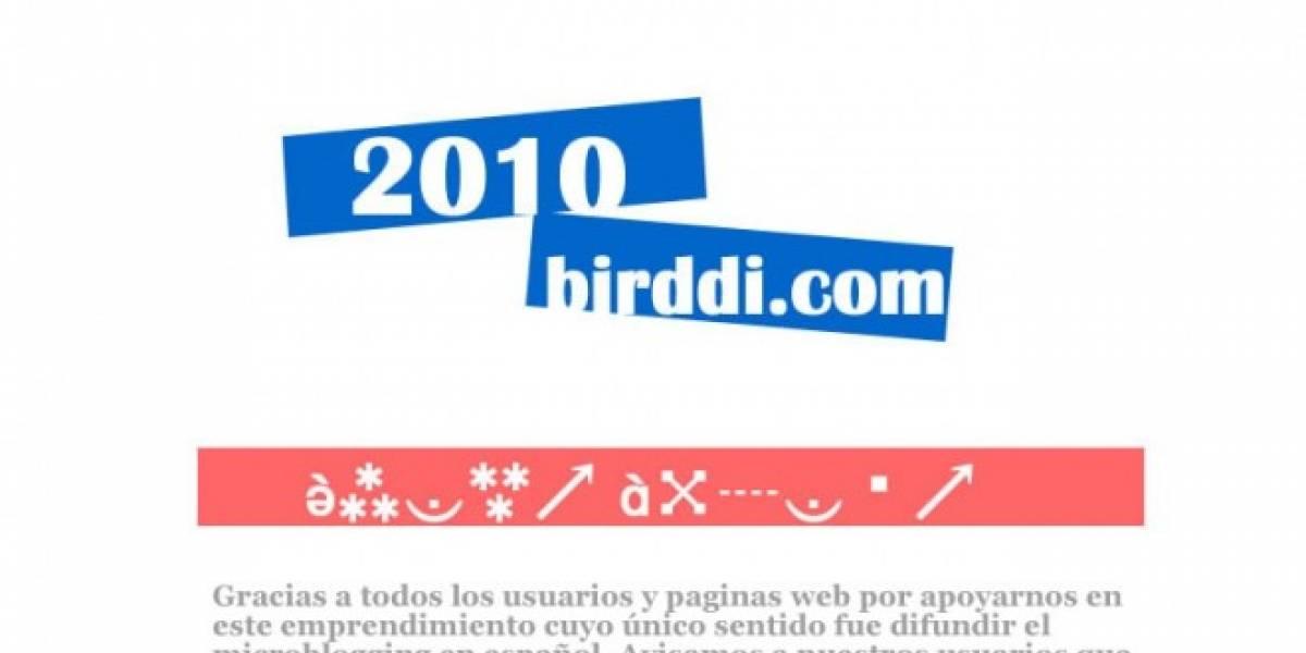 Adiós Birddi: sitio cerrado hasta 2010