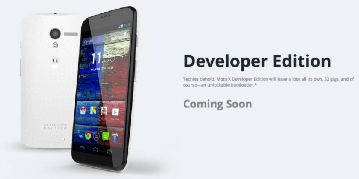 Google también ofrecerá el Moto X en versión para desarrolladores