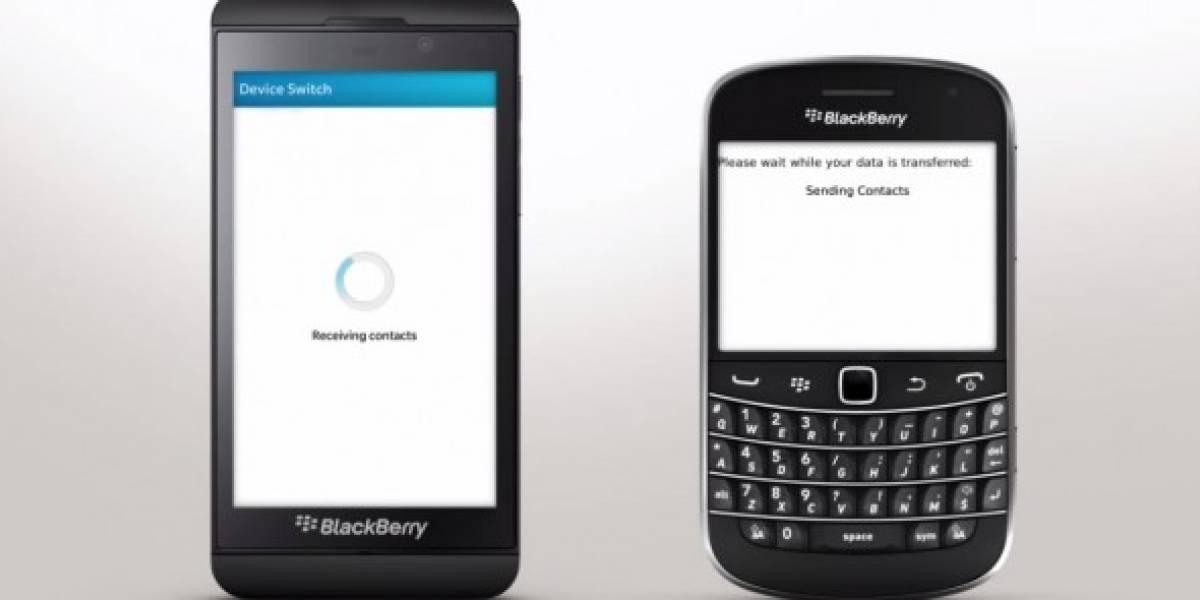 BlackBerry anuncia Device Switch, app para migrar de equipos antiguos a BB10
