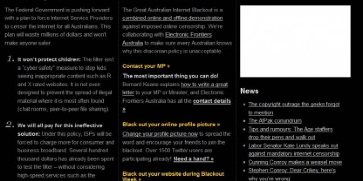 Bloggers de Australia protestan contra la censura