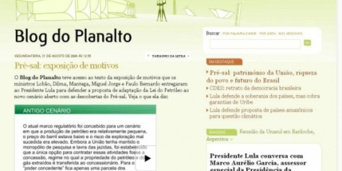 Blog de Lula debutó y tuvo su primer gran problema