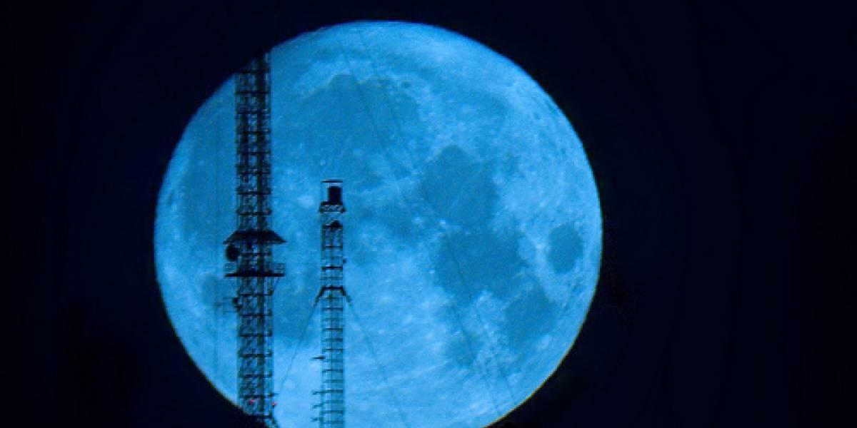 Una Luna azul para año nuevo