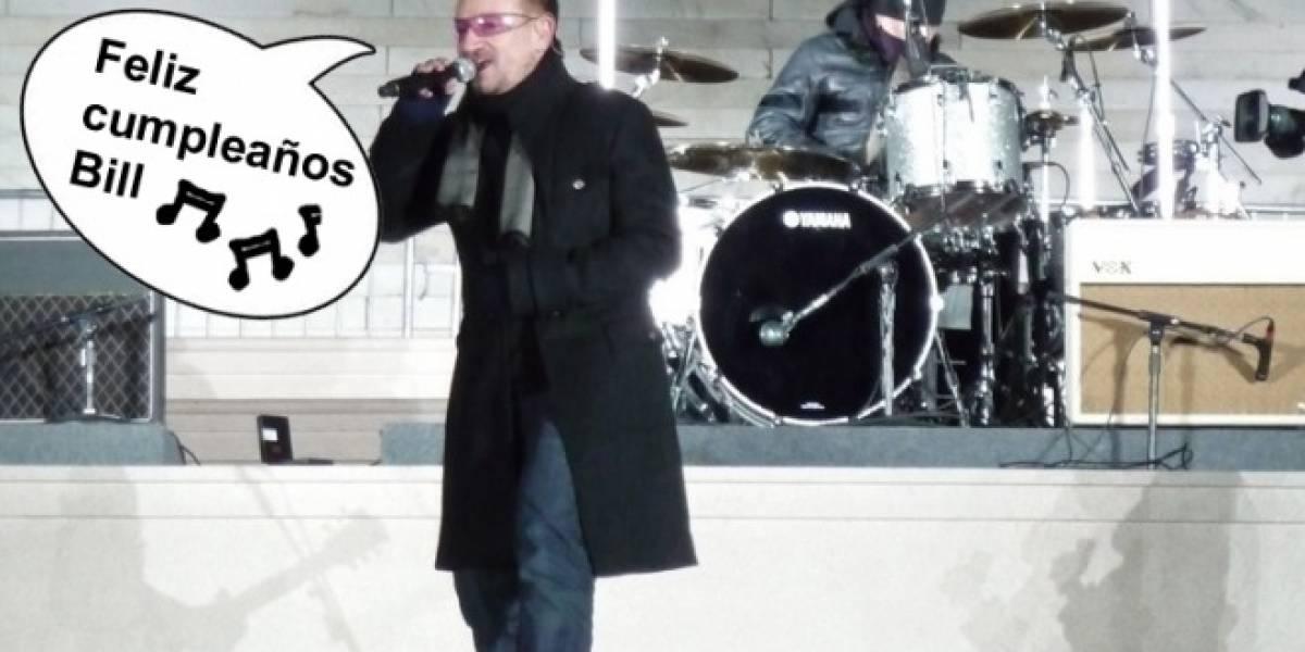 Video: Bono le desea feliz cumpleaños a Bill Gates