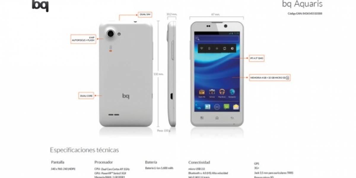 Bq lanza Aquarius, su primer smartphone con Android