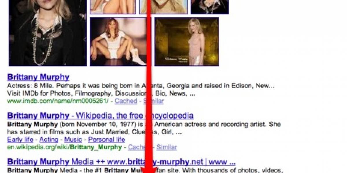 Muerte de Brittany Murphy y Google en tiempo real