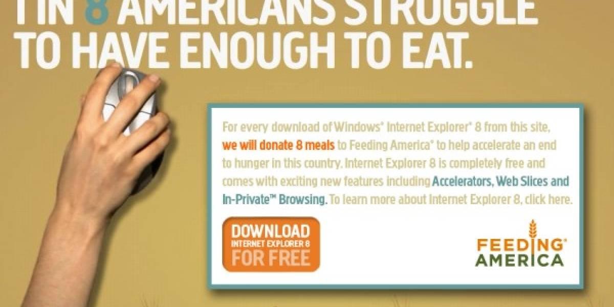 Impresentable: Microsoft dona comida a cambio de descargar IE8