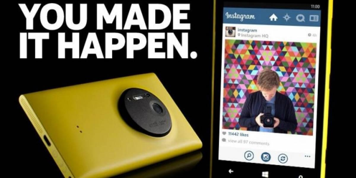 Nokia ya anticipa la llegada de Instagram a Windows Phone