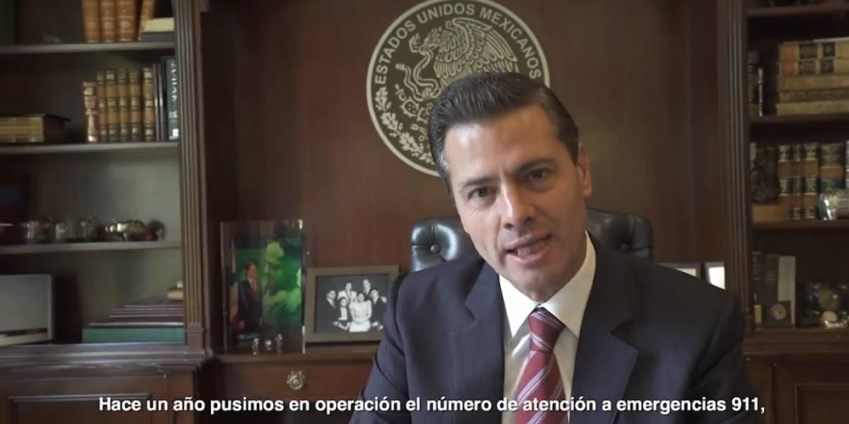 Peña Nieto pide a los mexicanos sugerir mejoras al 911