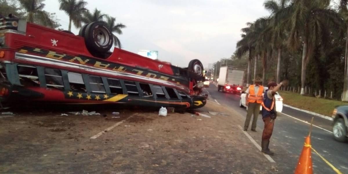 Impactantes imágenes de fatal accidente en la autopista a Escuintla