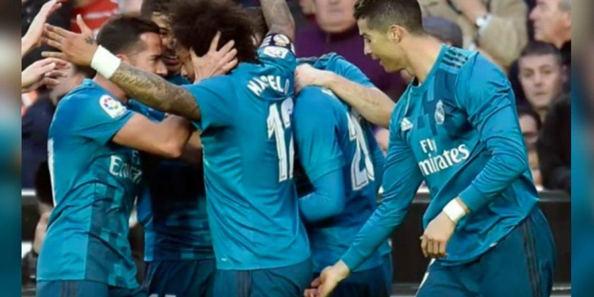 VIDEO: Cristiano se puso 'cariñoso' con Marcelo tras su gol
