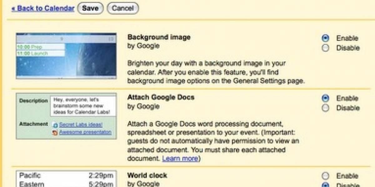 Nuevos servicios para Google Calendar y Tasks