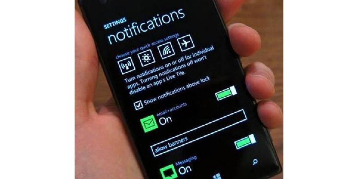 Aparece primera imagen del centro de notificaciones de Windows Phone 8.1