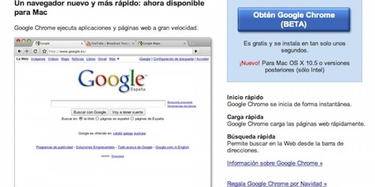 Google Chrome tiene su primera versión Beta para Mac y Linux