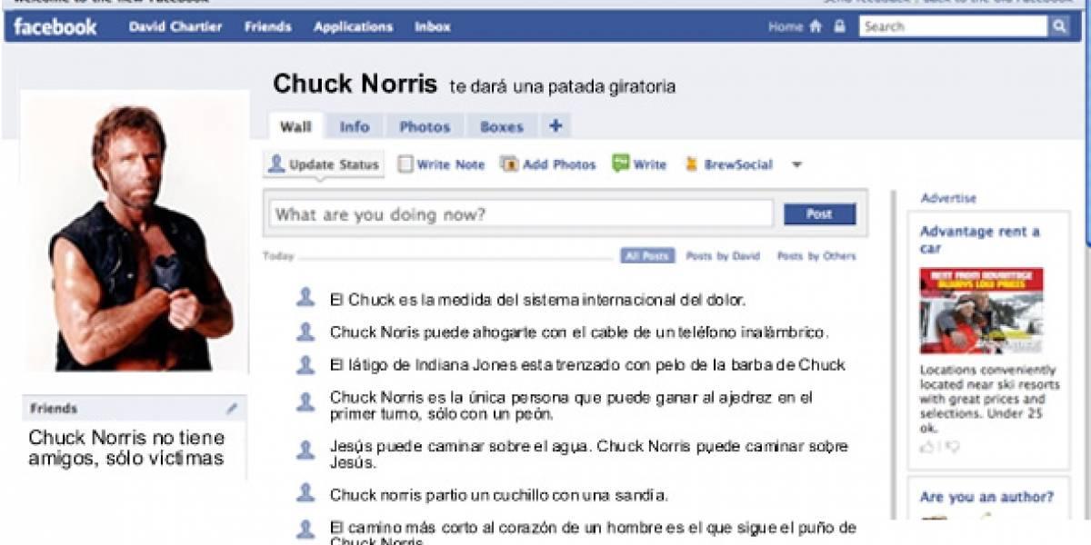 Chuck Norris puede ver tu perfil de Facebook