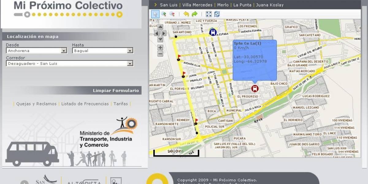 Argentina: Sistema de seguimiento de transporte público por geolocalización