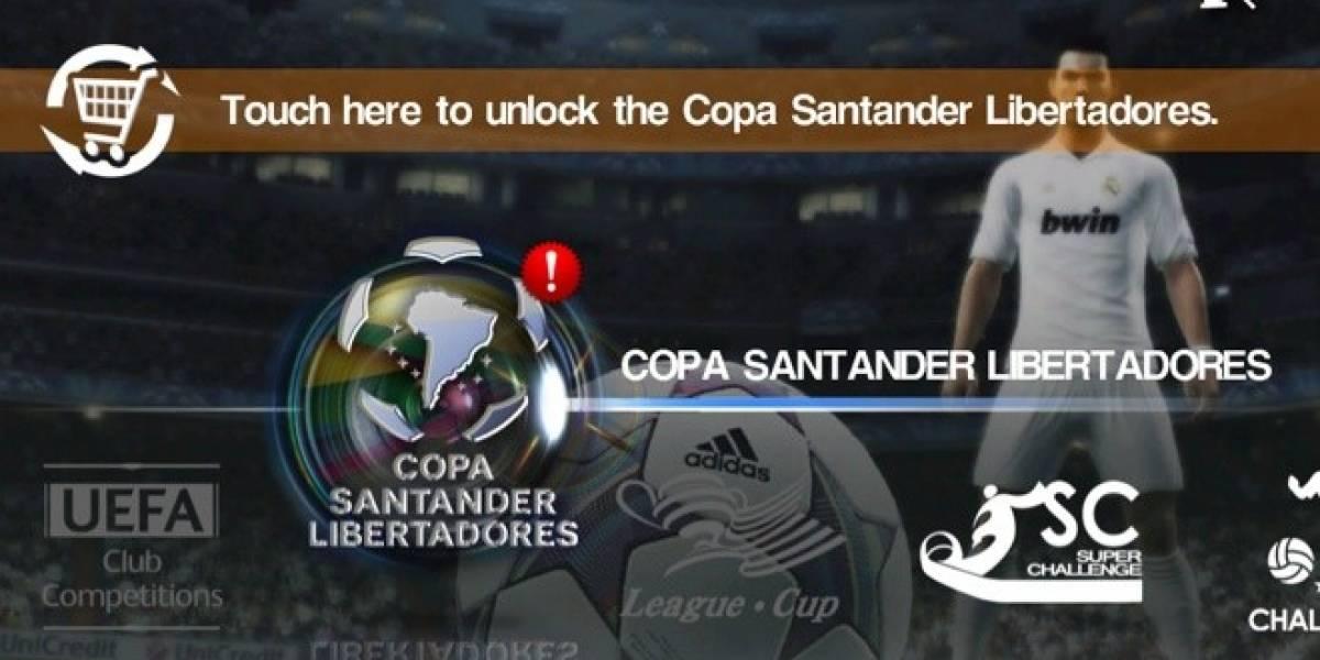 Ya puedes jugar la Copa Libertadores en PES 2012 para teléfonos móviles