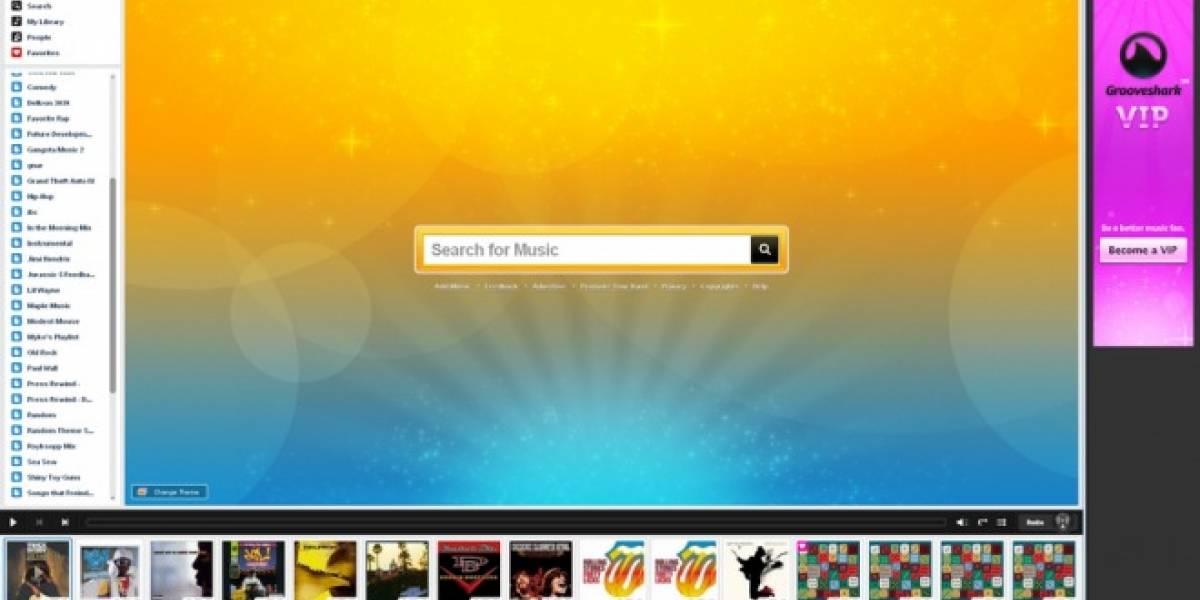GrooveShark estrena su nueva interfaz para cuentas gratuitas