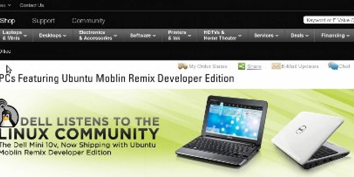 Dell lanza netbook con Ubuntu Moblin remix preinstalado