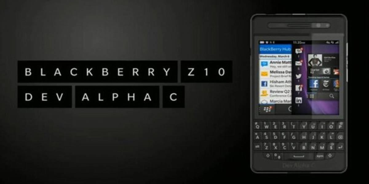 BlackBerry presenta el Dev Alpha C con QWERTY y un Z10 rojo de edición limitada