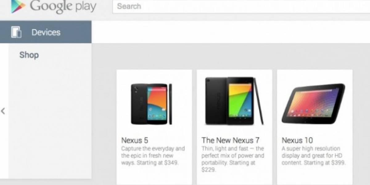 El Nexus 5 se deja ver en Google Play por breves momentos