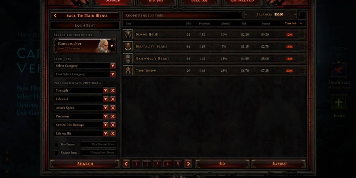 La Casa de Subastas de Diablo III llegará el 12 de junio