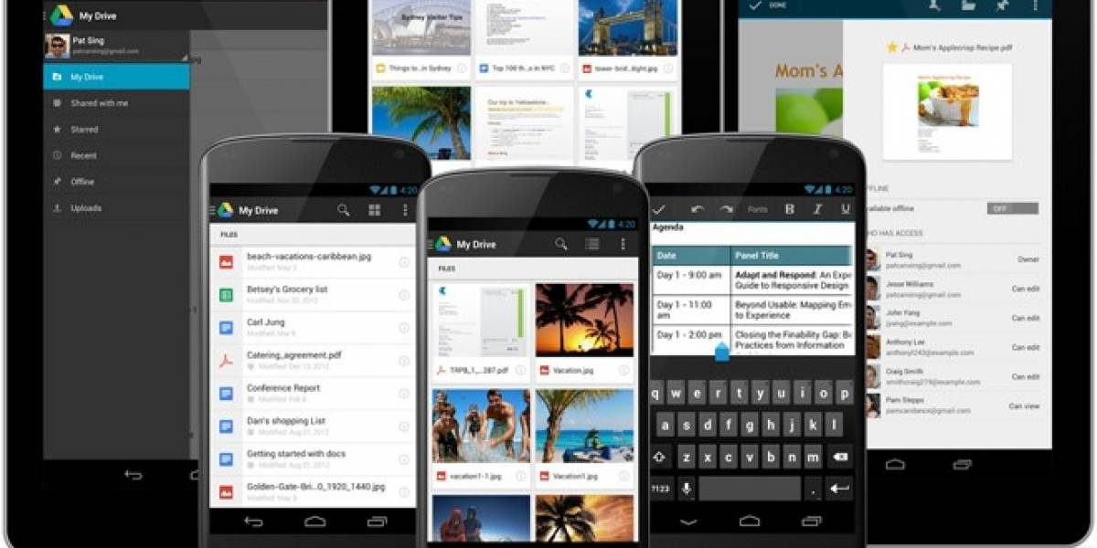 Google Drive para Android cambia su diseño y permite escanear textos con la cámara
