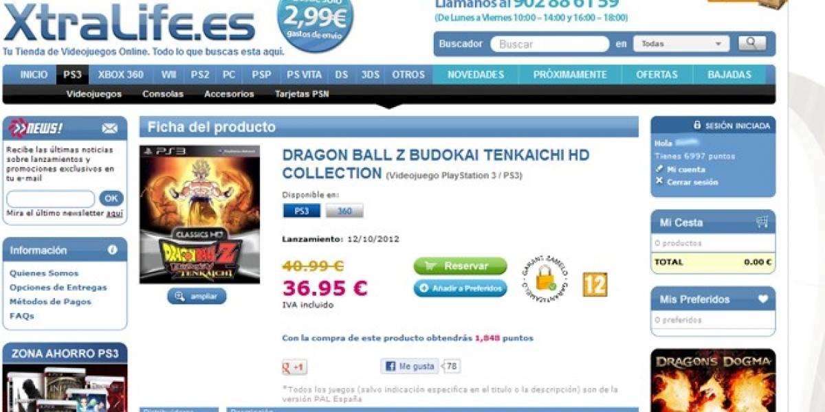 Una tienda española filtra Dragon Ball Z Budokai Tenkaichi Collection