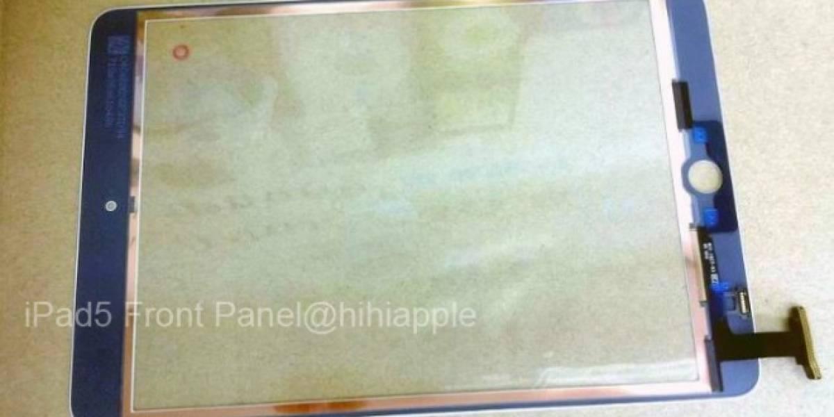 El panel frontal de un supuesto iPad 5 da cuenta de un fuerte rediseño [Actualizado]