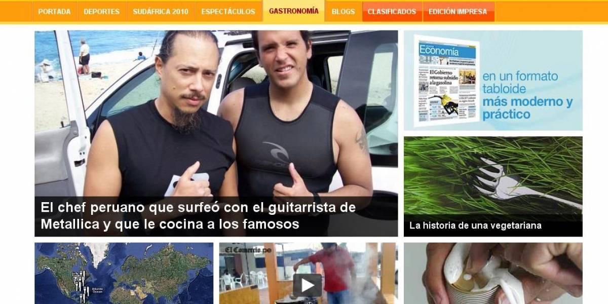 Perú: Nuevo diseño del diario El Comercio