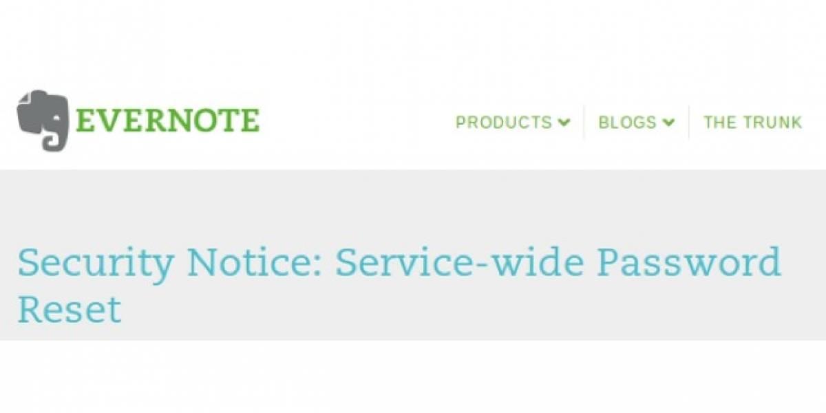 Si usas Evernote, cambia tu password ahora